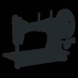 Máquina de costura vintage preta