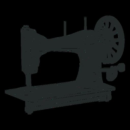 Máquina de coser vintage negra