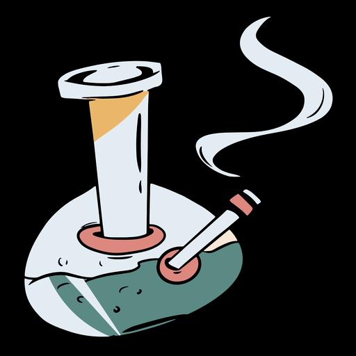 Ilustração de bong