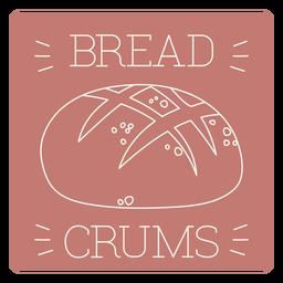Bread crums label line
