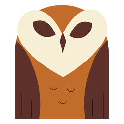 Brown barn owl flat