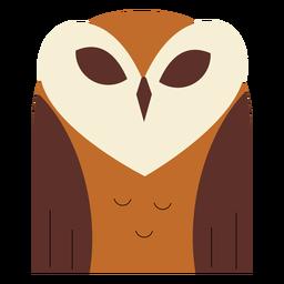 Lechuza común marrón plana