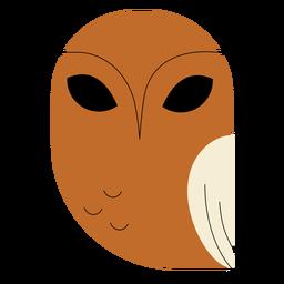 Búho pez marrón plano
