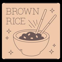 Brown rice label line