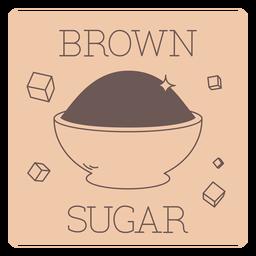 Brown sugar label line