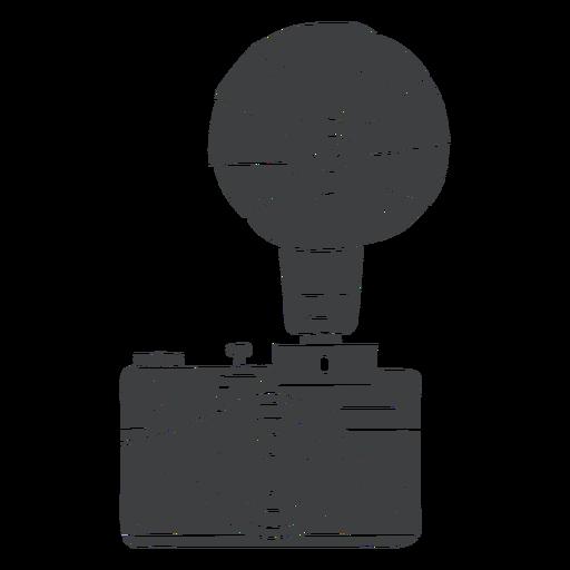 Camera flash black