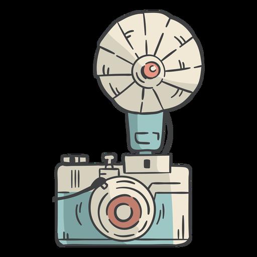Dibujado a mano flash de cámara