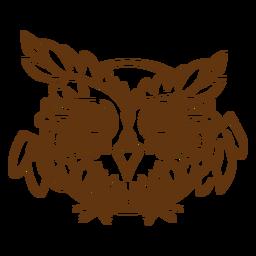 Cheeky owl stroke