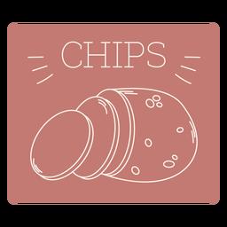 Chips label line
