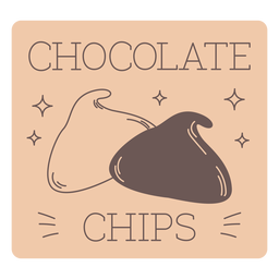 Chocolate chips label line