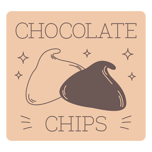 L?nea de etiquetas de chispas de chocolate