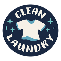Clean laundry label flat