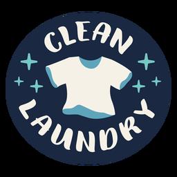 Etiqueta de ropa limpia plana