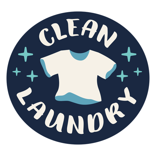 Clean laundry label flat Transparent PNG