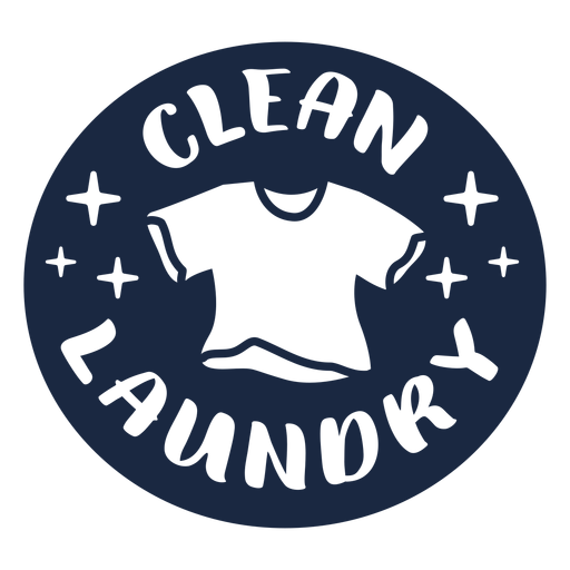 Clean laundry label blue Transparent PNG