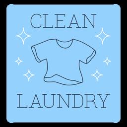 Clean laundry label line