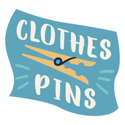 Clothes pins label flat