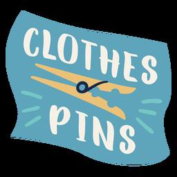 Pin de ropa etiqueta plana