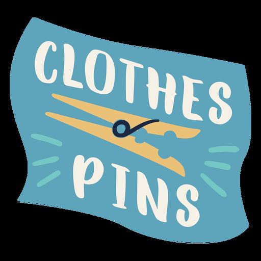 Clothes pins label flat Transparent PNG