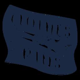 Clothes pins label blue