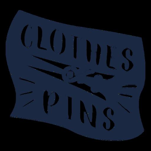 Etiqueta de alfileres de ropa azul