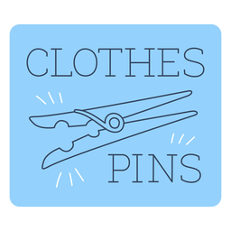 Clothes pins label line