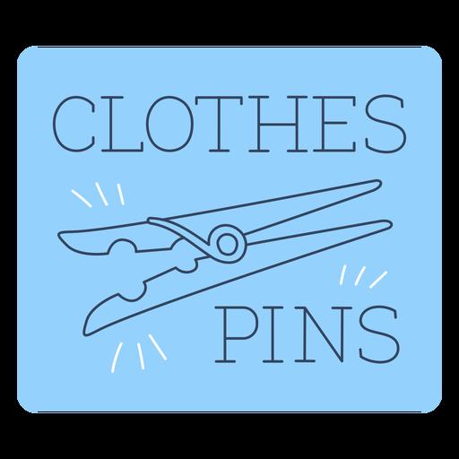 Clothes pins label line Transparent PNG
