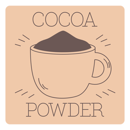 Línea de etiquetas de cacao en polvo