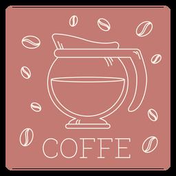 Línea de etiqueta de café