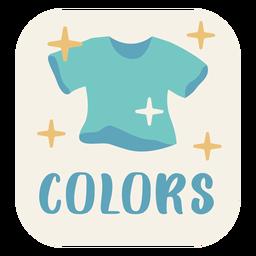 Colors label flat
