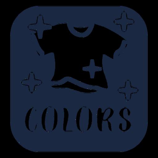 Colors label blue