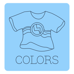 Colors label line