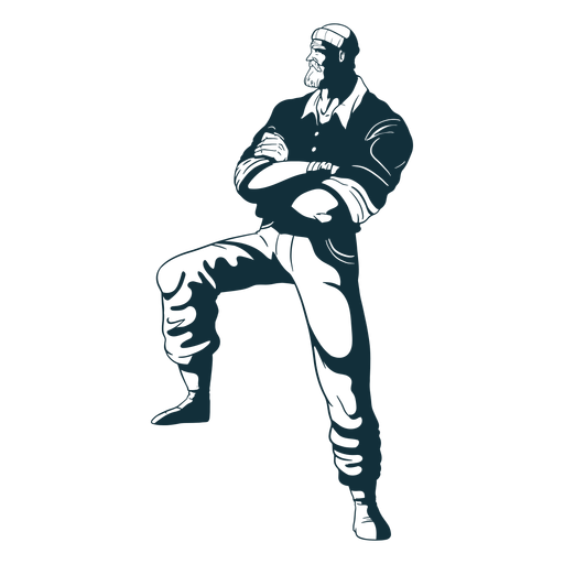 Crossed arms lumberjack character blue Transparent PNG