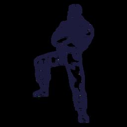 Dibujado a mano personaje de leñador de brazos cruzados