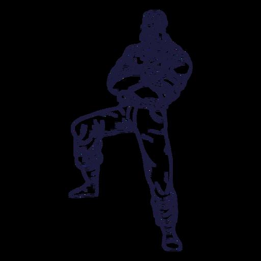 Crossed arms lumberjack character hand drawn