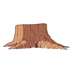 Cut tree trunk illustration