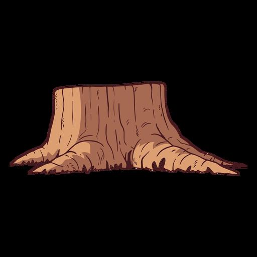 Ilustración de tronco de árbol cortado