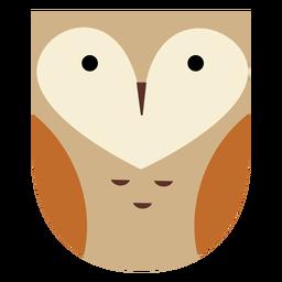 Cute heart shaped owl flat