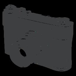 Câmera digital preta
