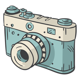Dibujado a mano cámara digital