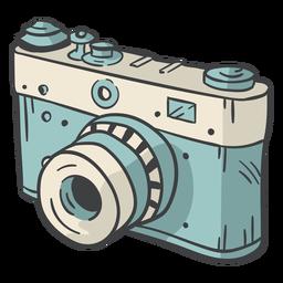 Mão de câmera digital desenhada