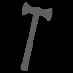 Silhueta de machado duplo