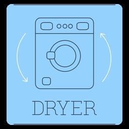 Dryer label line