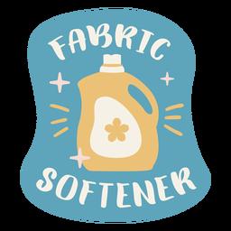 Fabric softener label flat