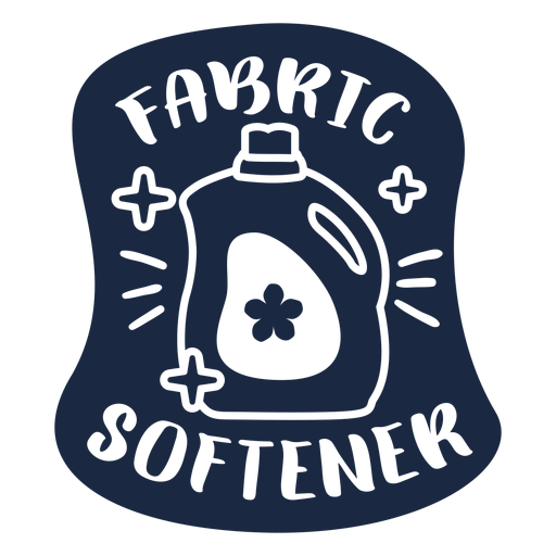 Fabric softener label blue