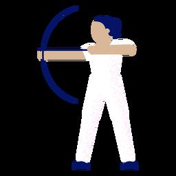 Arquero femenino plano