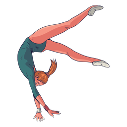 Female gymnast character