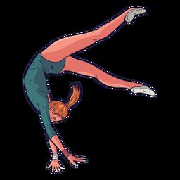 Personaje de gimnasta femenina