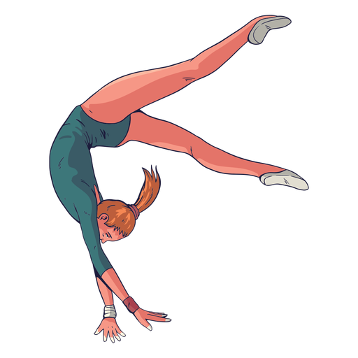 Female gymnast character Transparent PNG
