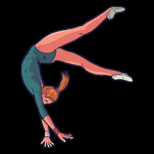 Personagem de ginasta feminina